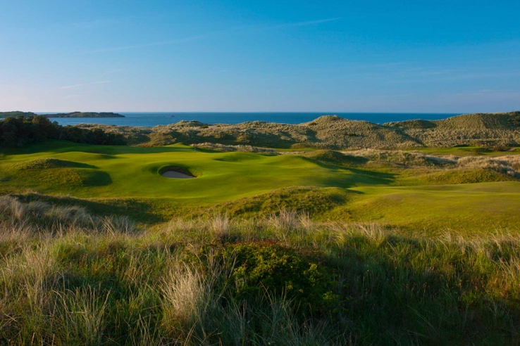 The sea grasses at Royal Portrush Golf Club.