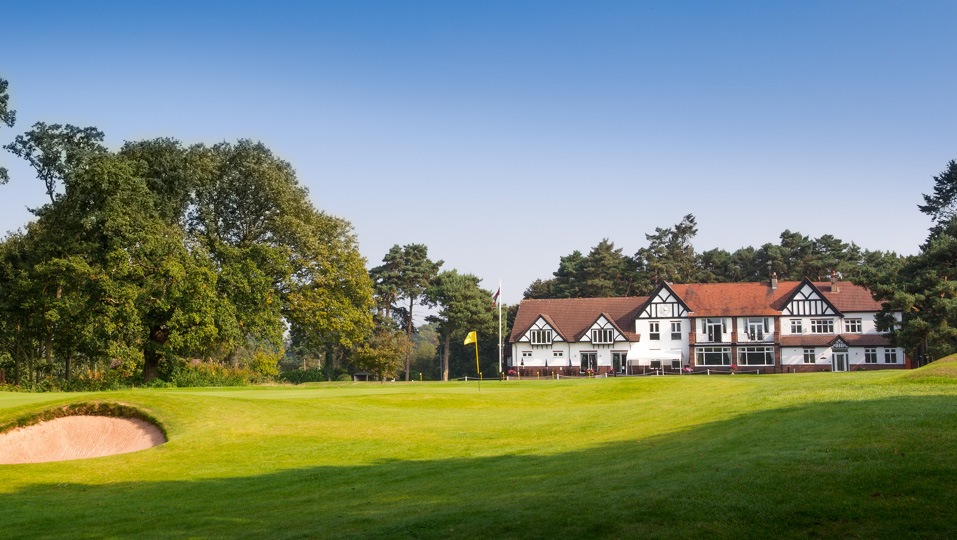 The clubhouse at Sandiway Golf Club.