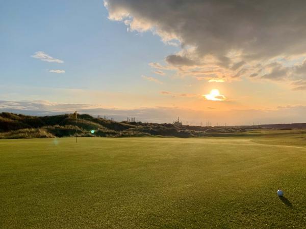 Sunset at Seaton Carew Golf Club.