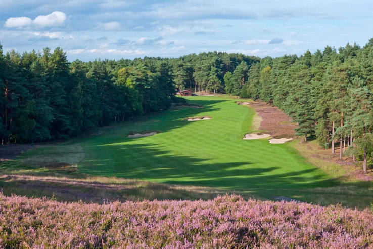 The magnificent heathland golf course, Sunningdale Golf Club Old.