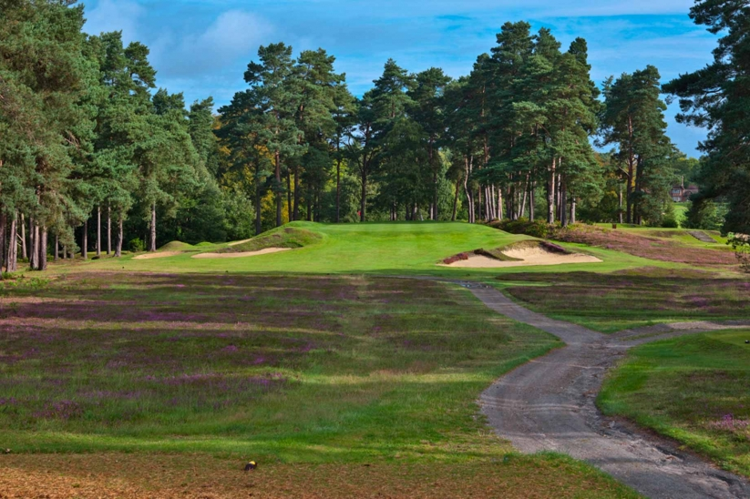 A Harry Colt par 3 at Swinley Forest Golf Club.