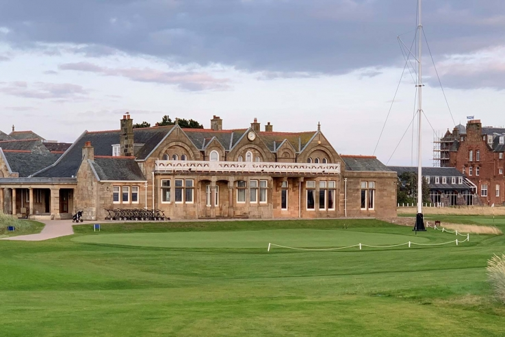 The clubhouse at Royal Troon.