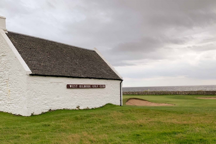 A building on the links at West Kilbride Golf Club.