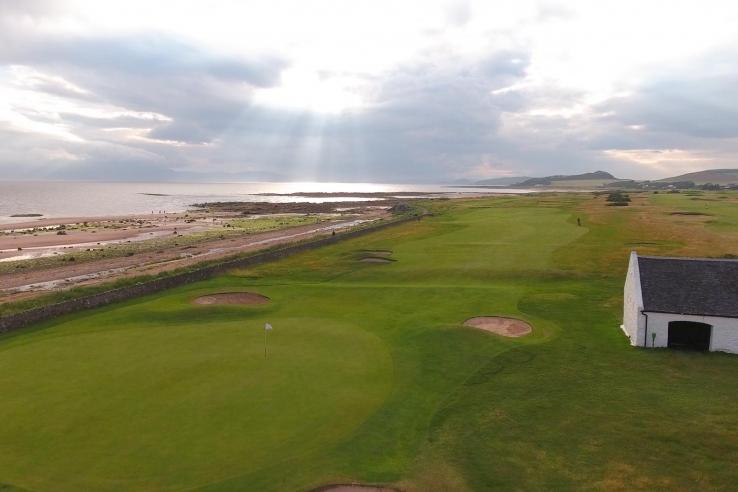 The 15th hole at West Kilbride Golf Club.
