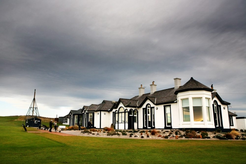 The clubhouse at THE GOLF HOUSE CLUB ELIE.