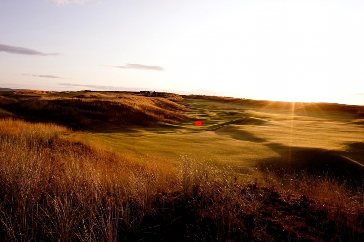 Sunrise at Castle Stuart Golf Links.