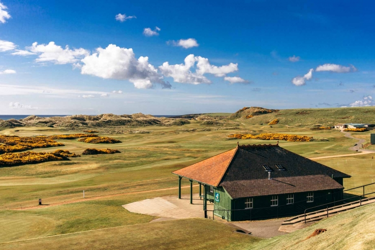 The halfway house at Cruden Bay Golf Club.
