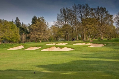 The Colt bunkering at Tandridge Golf Club.