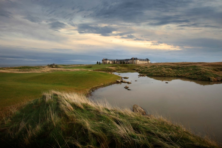 Water comes into play at Fairmont St Andrews as shown here.