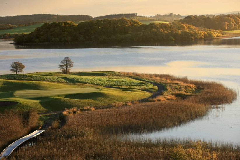 The water hazards come into play on 11 of 18 holes at Lough Erne Resort.