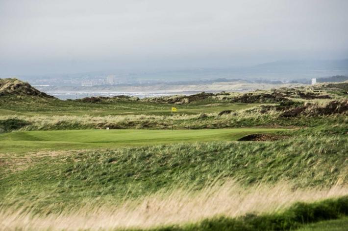 The windy Western Gailes Golf Club.