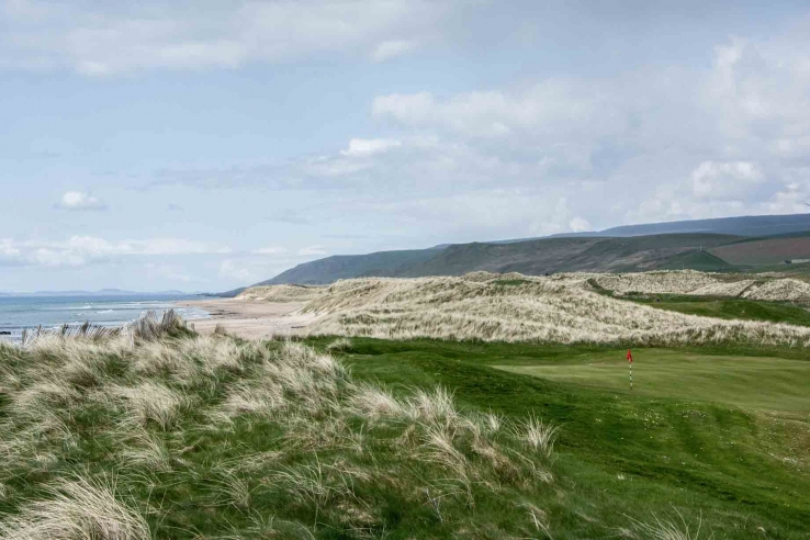 Natural grasses and a light touch of man evident at Machrihanish DunesMachrihanish Dunes.