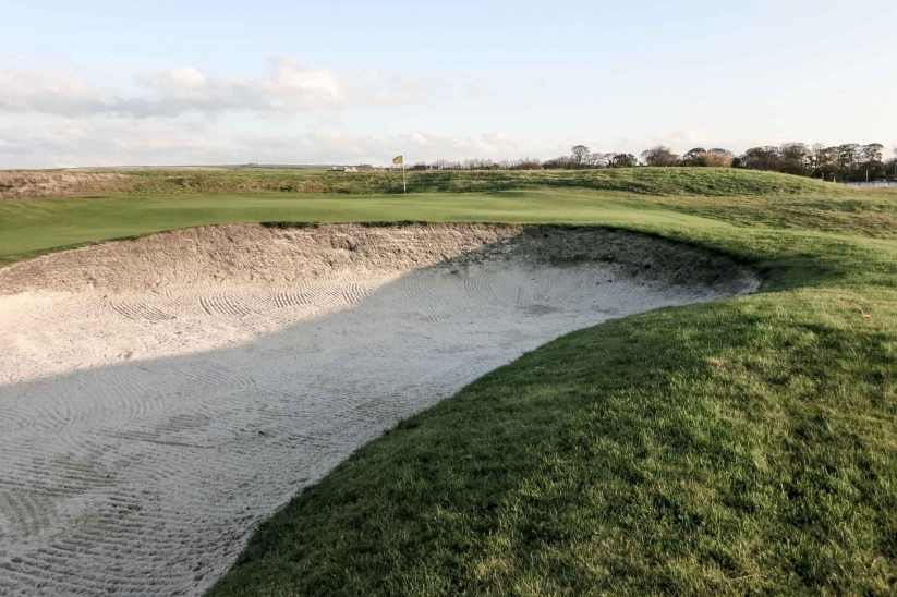 One of the oldest bunkers in the world at Musselburgh Links.