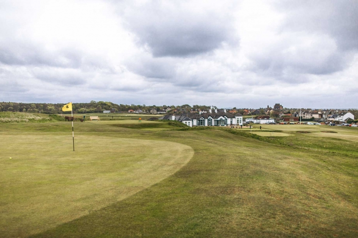 The classic links of Elie Golf Club or Golf Club House.