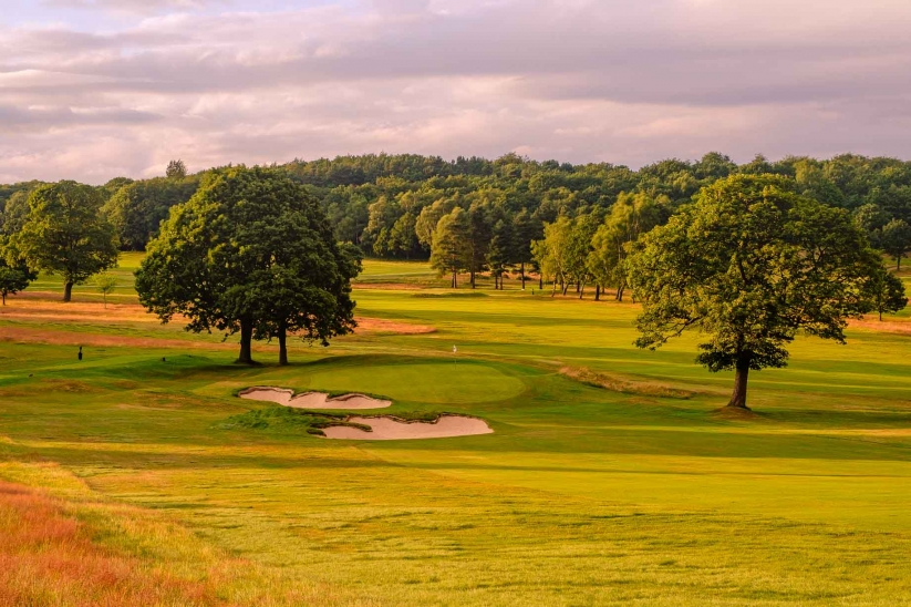 A photo of the recent bunker renovation at Huddersfield Golf Club.