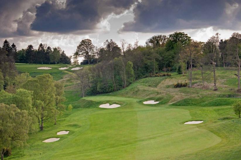 A hole traditionally presented at Tandridge Golf Club.