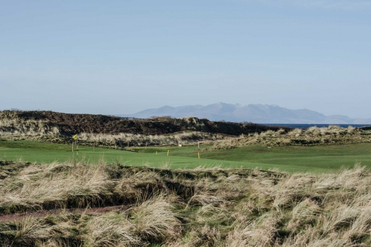 The rugged and pure links at Western Gailes Golf Club.