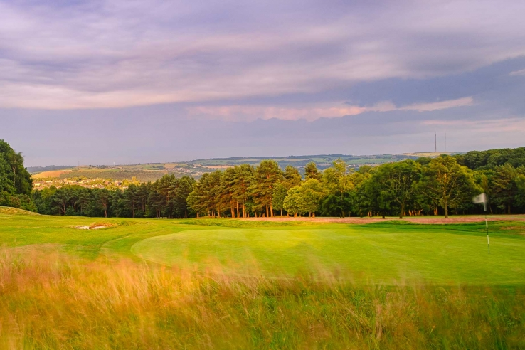 The beautiful vistas shown Huddersfield Golf Club.