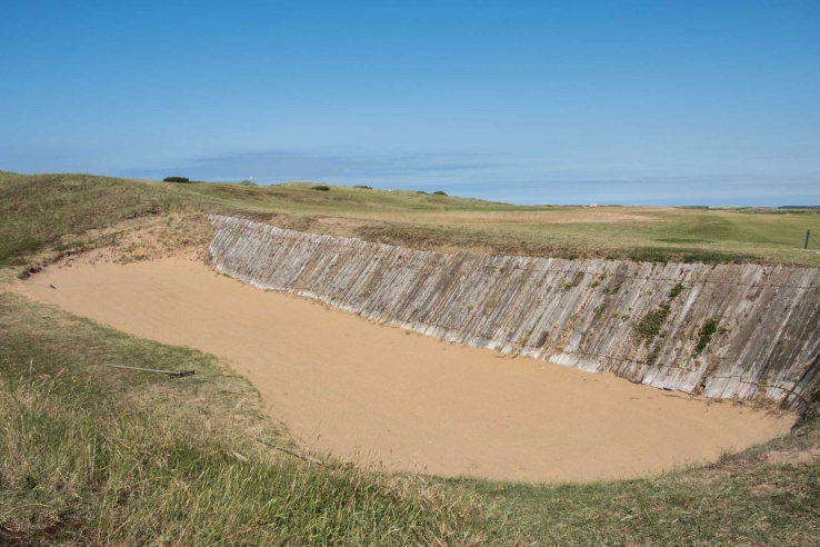 A photo of the natural local sand at Royal West Norfolk Golf Club Brancaster.