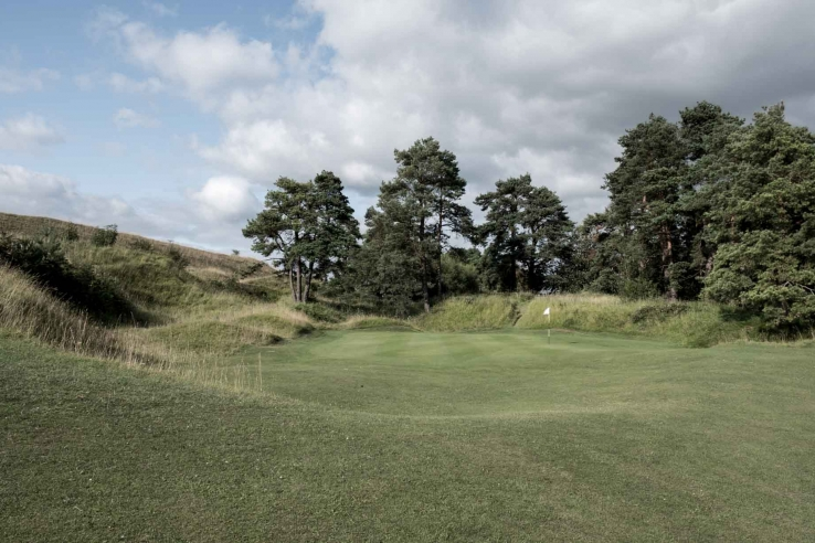 Punchbowls are common at Painswick Golf Club as seen here.