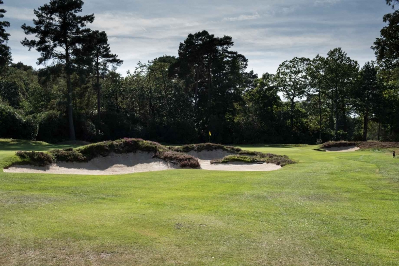 Bunkers restored to Tom Simpson's orginal glory by Frank Pont .