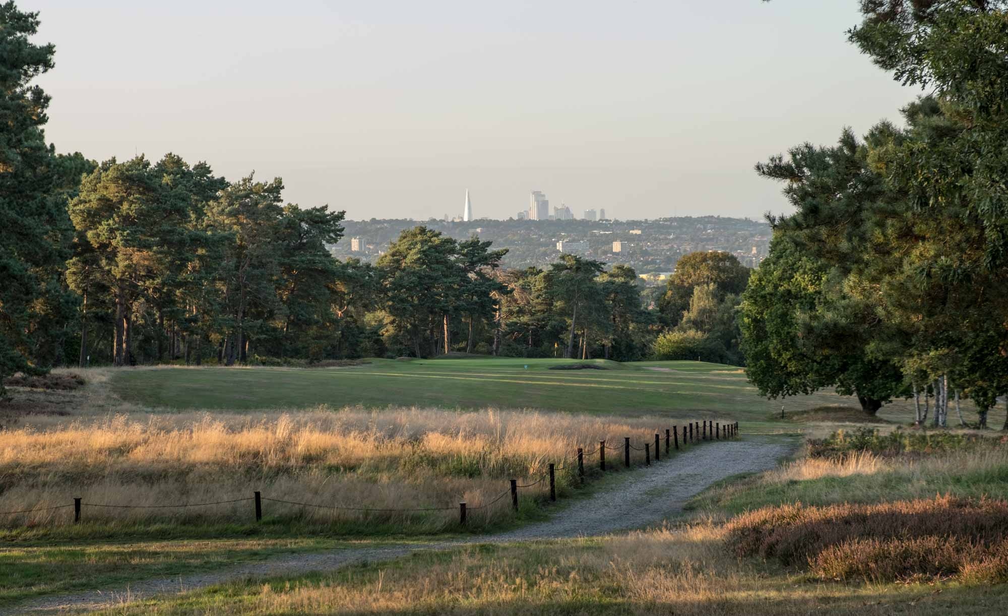 A photo from the fourteenth tee overlooking London at The Addington Golf Club by JF Abercromby.