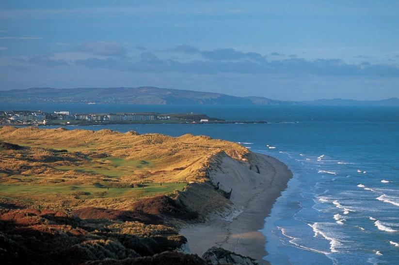 The rugged coastline at Portrush, Ireland.