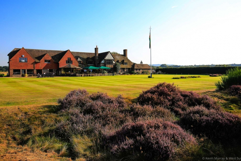A photo of the clubhouse at West Sussex Golf Club.