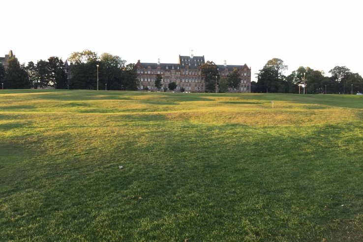 The rippled ground over which Bruntsfield Links Short Hole Golf Club is laid.