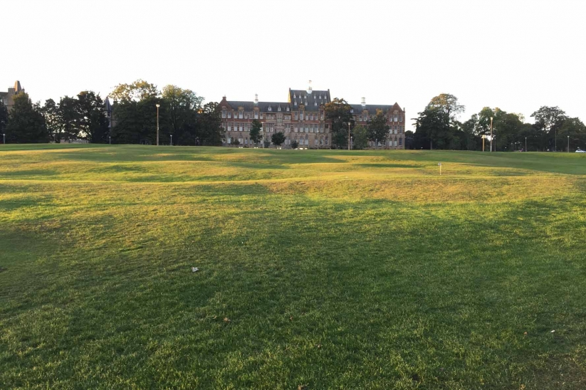 The rippled ground over which Bruntsfield Short Hole Golf Club is laid.