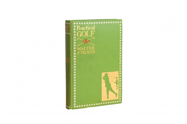 A photo of the book Practical Golf by Walter Travis.