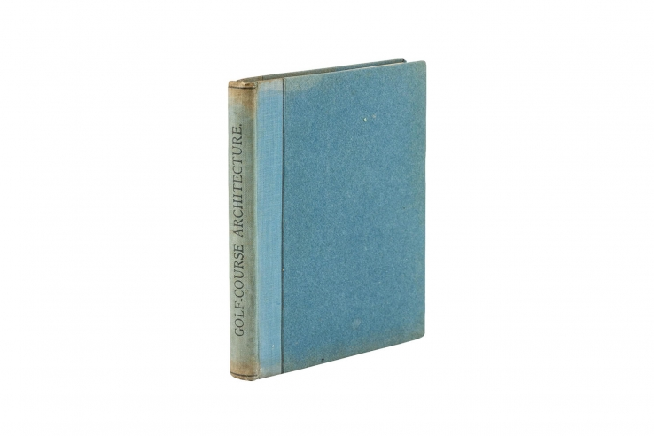 A photo of the first edition book Some Essays on Golf Course Architecture.
