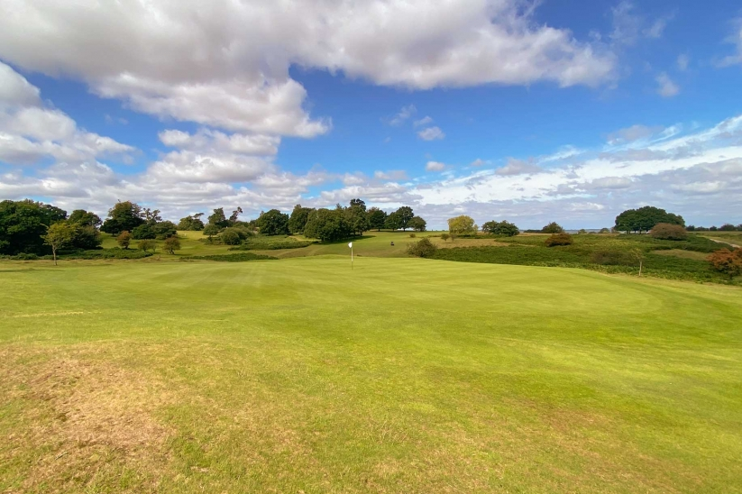 The stunning 12th green at Knole Park Golf Club.