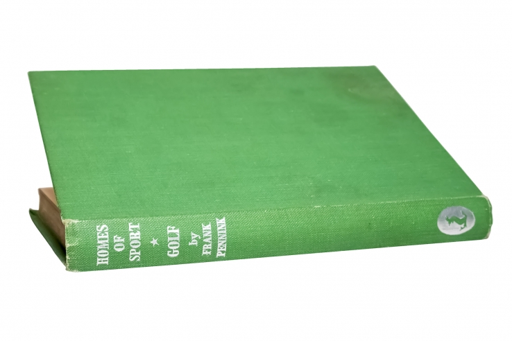 A photo showing the cover of the book Homes of Sport by Frank Pennink.