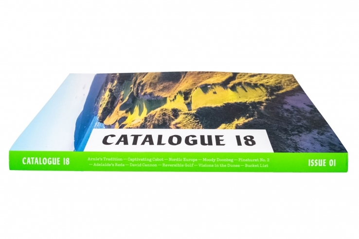 The spine of volume 1 of Catalogue 18.