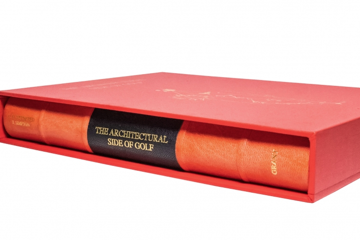 The spine of the book The Architectural Side of Golf.