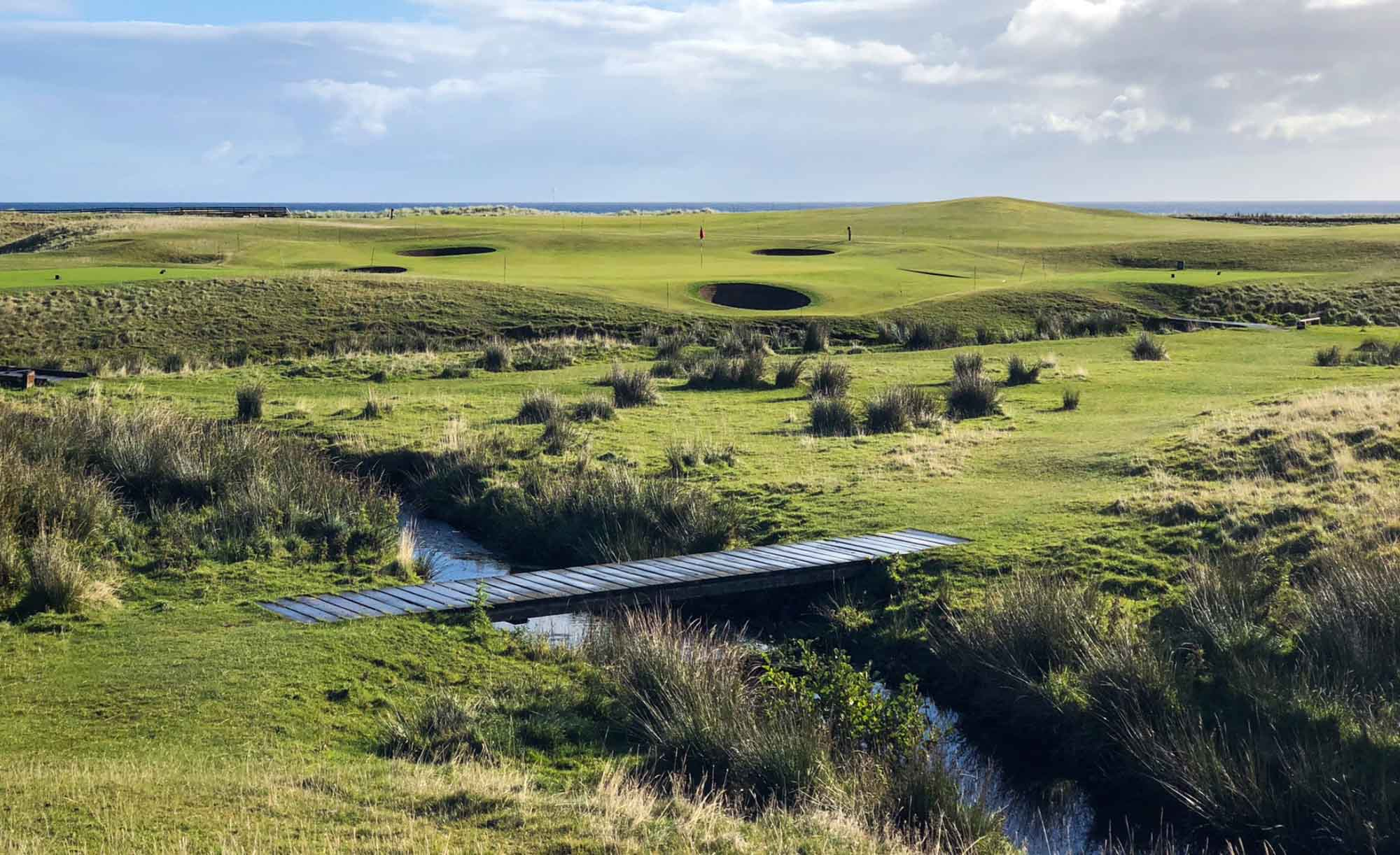The rugged golf course at Brora Golf Club.