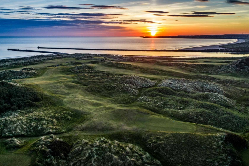 Sunset at the Mussenden Links.