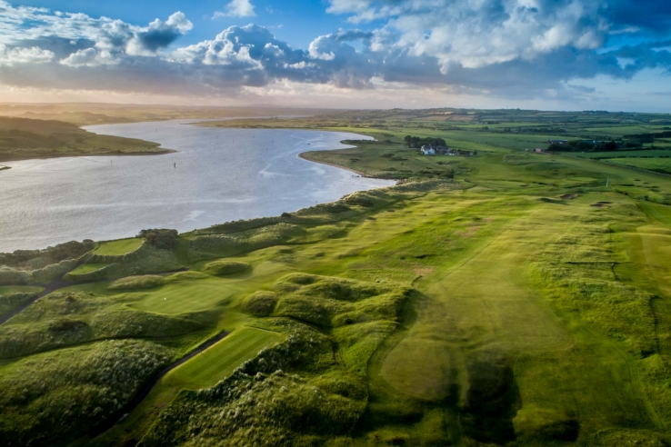 Aerial photo of the Castlerock Golf Club Mussenden Links.