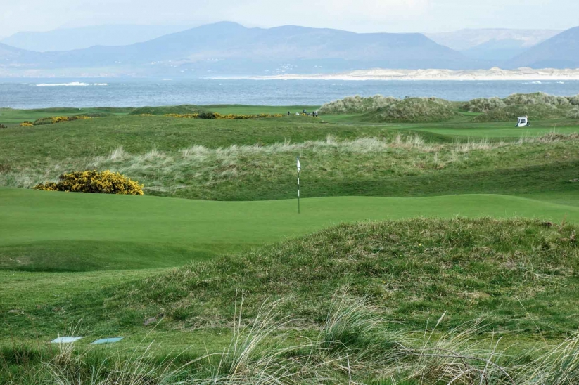 Wild undulations dominate at Dooks Golf Club as shown here.