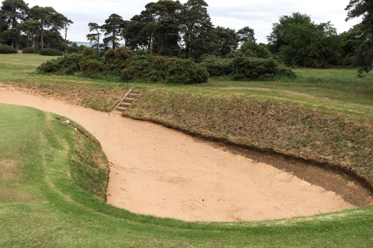 The bunkers at Ganton Golf Club are proper tests as shown here.