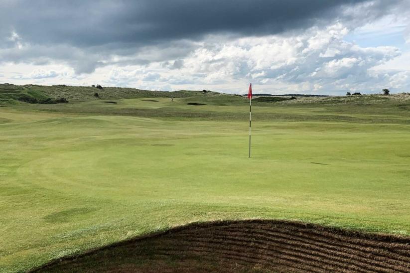 The revetments of the hidden gem of Goswick Golf Club.