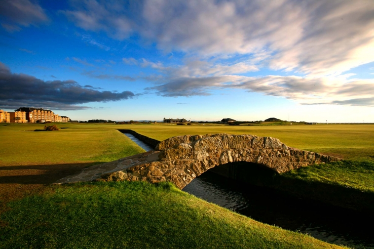 A photo of Swilcan or Golfers' Bridge The Old Course St Andrews.