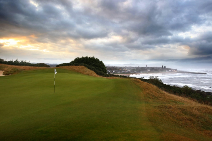 A contentious green at Castle Course St Andrews.