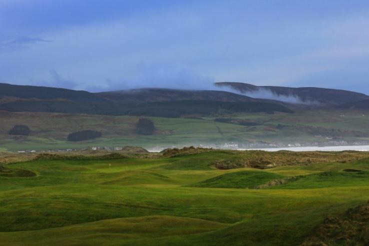 The gorgeous views at Machrihanish Golf Club.