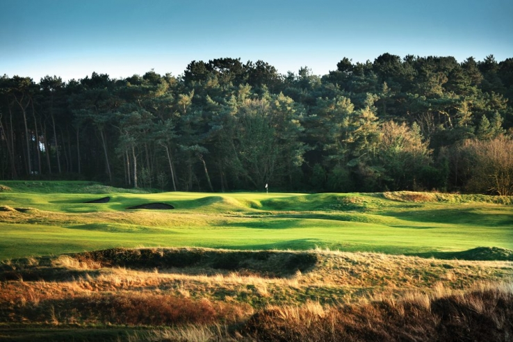 The 16th hole at Formby Golf Club.
