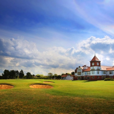 The clubhouse at Formby Golf Club.