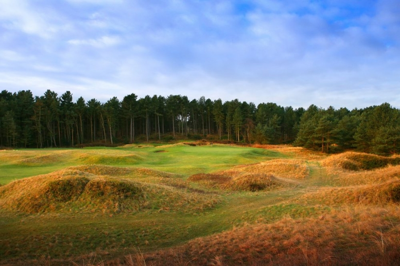 The humps and hollows of Formby Golf Club.