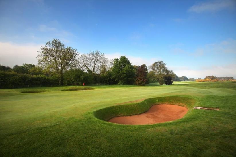 The bunkers greenside at Ganton Golf Club.