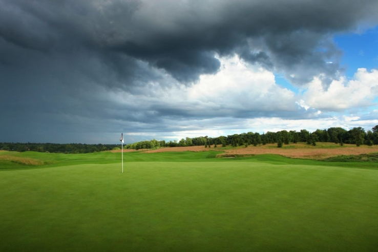 The 9th hole at The Grove near London, England.